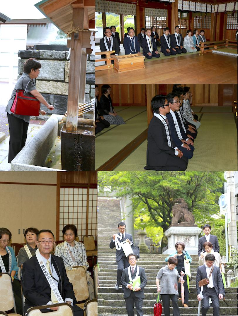 諏訪神社参拝
