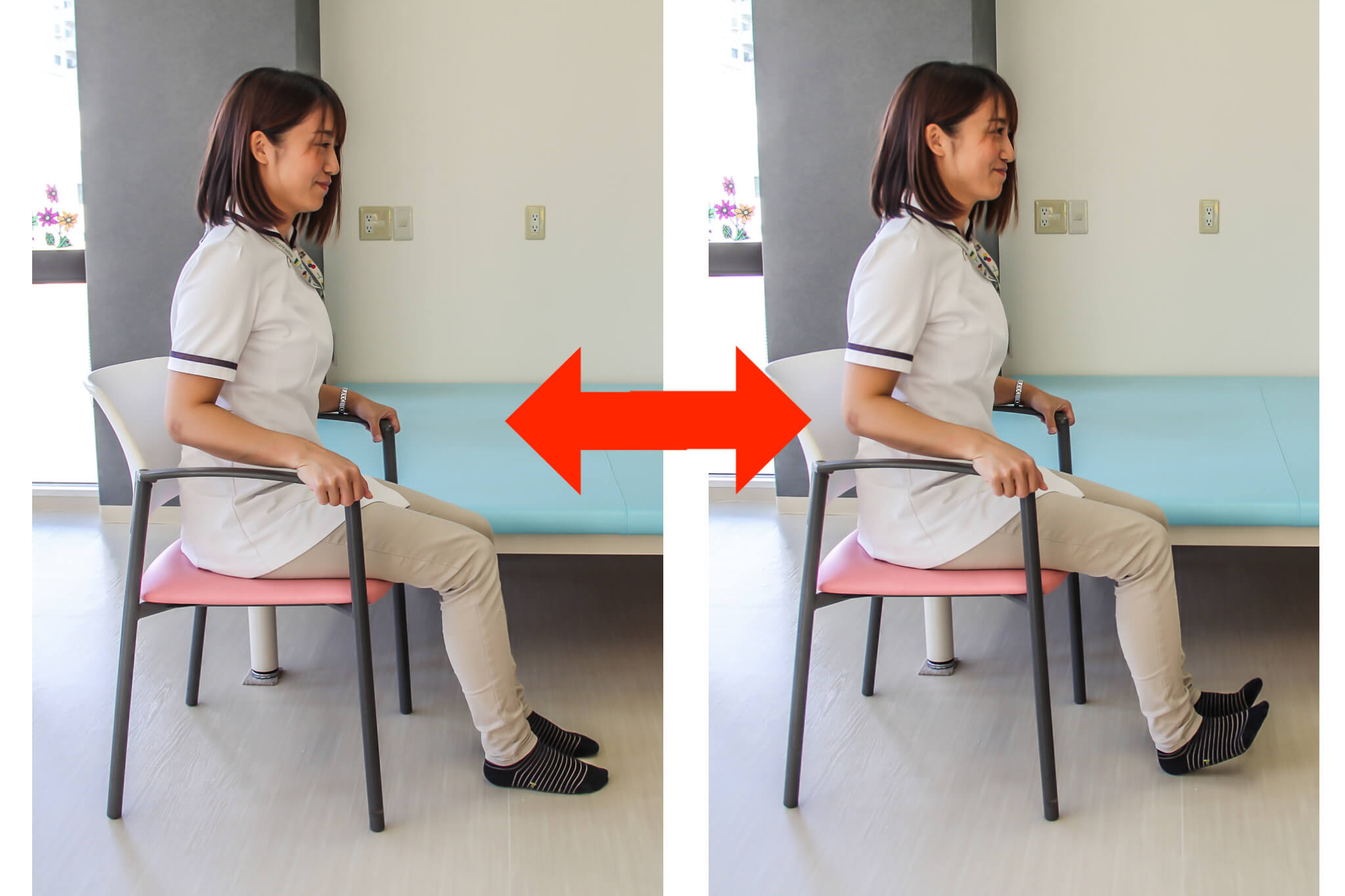 下肢のむくみ解消体操 写真